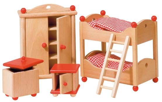 """Puppenhausmöbel – Kinderzimmer """"Landhausstil"""" - Zwergenträume"""